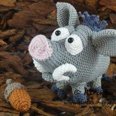 Amigurumi Crochet Pattern - Wilbur the Wild Boar - English Version