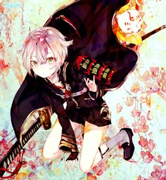 蛍丸 Best Anime Drawings, Anime Sketch, Danganronpa Characters, Anime Characters, Cute Anime Boy, Anime Guys, Manga Art, Anime Art, Katana Girl