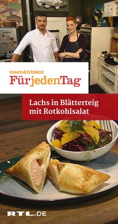 Lachs in Blätterteig mit Rotkohlsalat | RTLplus  Fr 01.02. Snapper Filet Recipes, Whole Red Snapper Recipes, Fish Recipes Tilapia Easy, Fried Fish Recipes, Healthy Appetizers, Appetizer Recipes, Clean Eating Fish, Tim Maelzer, How To Cook Fish