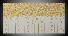 Birch Trees Painting with Gold Metallic Abstract #art #painting @EtsyMktgTool http://etsy.me/2amHMWe #art #painting #abstract #acrylic