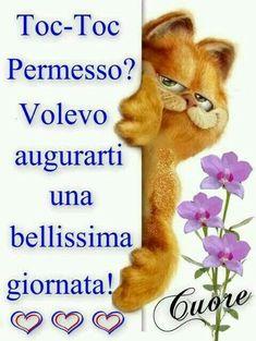 Buona giornata a te con il cuore Italian Memes, Italian Quotes, Famous Phrases, Italian Phrases, Good Morning Good Night, Sweet Words, Happy Smile, Happy Birthday Cards, Vintage Postcards
