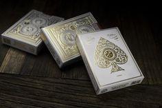 White Artisan Playing Cards ♠♠♠ www.poker24.pl