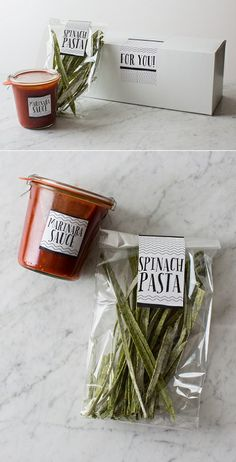 15 takes on homemade Christmas hostess gifts: Homemade pasta box