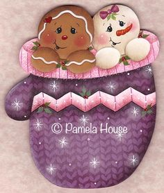 She has so many adorable ginger patterns.   The Decorative Painting Store: Winter Friends, Pamela House
