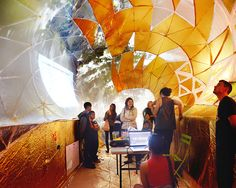 inflatable classroom installed inside of a NYC dumpster- this calls for a little more research and user feedback! Temporary Architecture, Amazing Architecture, Urban Intervention, Community Space, Smart Art, Environmental Graphics, Guerrilla, Public Art, Installation Art