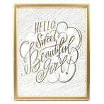Hello Sweet Beautiful Girl Framed Wall Art
