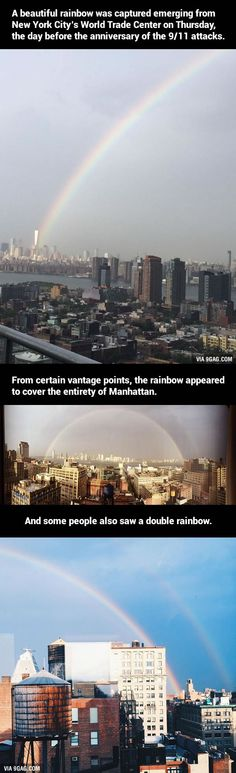 A Rainbow Emerged From The World Trade Center The Day Before The 9/11 Anniversary