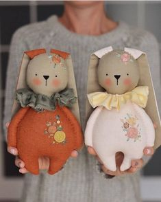Discover thousands of images about Happy Monday, Friends! Tomorrow is the day these bunnies and their friends are releasing. I'll be waiting for your in my shop at 4 PM EST… Fabric Toys, Fabric Crafts, Tomorrow Is The Day, Sewing Dolls, Felt Toys, Diy Doll, Stuffed Toys Patterns, Softies, Handmade Toys