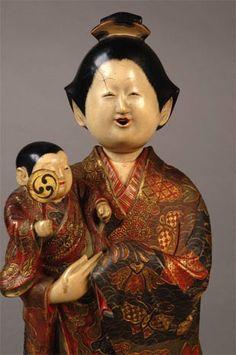 Antique Japanese Dolls - Art in Focus - Saga Ningyo. S)