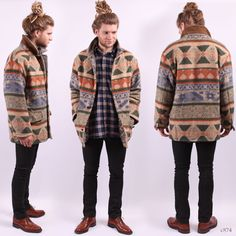 Mens Navajo Coat / Vintage Tribal Insulated Blazer by BetaPorHomme, $76.00