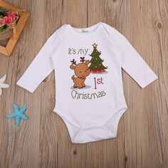 Cute Cartoon Deer Christmas Newborn Romper Christmas Baby Jumpsuit, Cute Kids Christmas Clothes, Santa clothes, baby Christmas clothes, shop for baby Christmas light clothes, The very best Christmas clothes for babies, Christmas gifts, Xmas gifts, Newborn