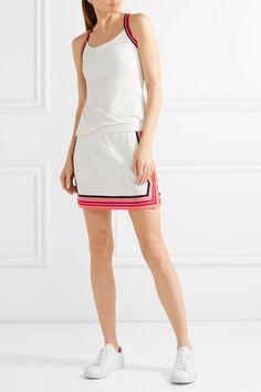 White piqué Slips on 100% polyester; lining: 93% nylon, 7% elastane Machine wash Designer color: Snow White/ Poppy Red