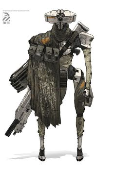 ArtStation - Roughs…, by Nivanh ChantharaMore robots here.