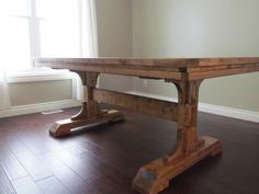 Double Pedestal Farmhouse Table | Do It Yourself Home Projects from Ana White