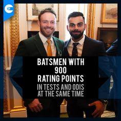 Virat Kohli and AB de Villiers, two of the best modern-day batsmen for a reason. Cricket Sport, Live Cricket, Cricket Match, Ab De Villiers, Latest Cricket News, Virat Kohli, Hair And Beard Styles, Bff, Handsome
