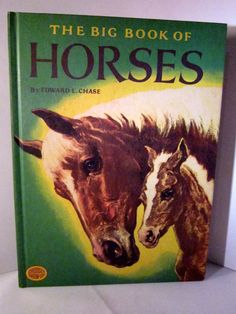The Big Book of Horses 1978 by Edward L Chase, Children Hardback