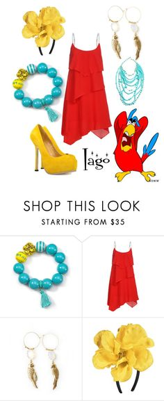 """""""Iago"""" by alsni ❤ liked on Polyvore featuring Juicy Couture, Disney, ABS by Allen Schwartz, Briolette, Amrita Singh, aladdin, disney and iago"""