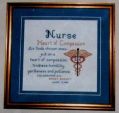 Nurse  Heart of Compassion  Cross Stitch Pattern  by GrammieJennie, $2.99