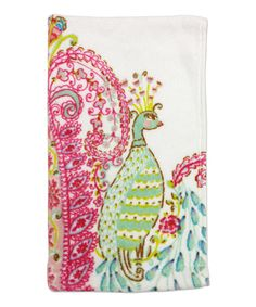 This Peacock Fingertip Towel by Dena Designs is perfect! #zulilyfinds