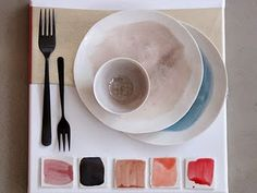 I could get really into eating off of these watercolour ceramics