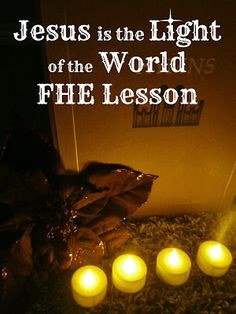 Pinning with Purpose: Jesus is the Light of the World - FHE Lesson