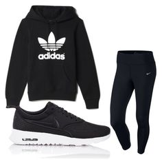 """Untitled #17"" by simonegarvie on Polyvore featuring NIKE and adidas"