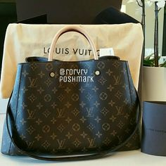 Louis Vuitton Montaigne GM Authentic Rare Louis Vuitton Montaigne Monogram GM.  In impeccable condition.  Used only 5X!  Been   stored in dust bag and original box ever since.  Comes from smoke & pet free home.  No scratches, scuffs, or odor. Code M41067 Comes with receipt, dust bag, box, and leather tie string. Louis Vuitton Bags Totes