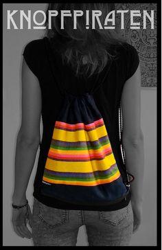 """CITY-SURFERbag """"YELLOWmex"""" www.facebook.com/knopfpiraten #turnbeutel #handmade #hipster #beutel #neon #stoffbeutel #strandbeutel Material Baumwolle /SchwarzMaße 32 x 40 cm"""