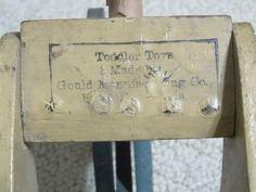VINTAGE DUCK WOODEN PUSH PULL TODDLER TOY GOULD MFG. OSHKOSH WI AMERICANA ART   eBay Pull Along Toys, Tiny Teddies, Duck Toy, Wooden Rabbit, Push Toys, Radio Flyer, Vintage Fisher Price, Girl And Dog, Retro Toys