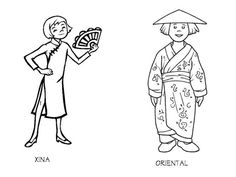 chinese costume coloring pages