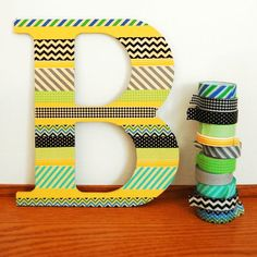 and welcome to another Washi Wednesday. i have a little Washi Challenge for you :) and i do hope you play along! Letter A Crafts, Letter Art, Fun Crafts, Diy And Crafts, Arts And Crafts, Diys, Deco Champetre, Washi Tape Crafts, Decorative Tape