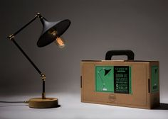Gramophone Lamp Black Handmade Pipe Lamp with by KitboxDesign