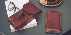 Italian Leather Glasses Case for Men | Maxwell Scott Bags: The Gabbro