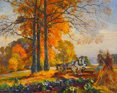 Farmers with Horse Cart (Mathias J. Alten - 1914) Source: The Athenaeum