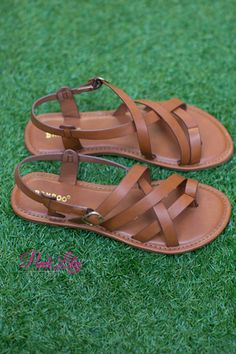 The Sonata Sandals Cognac - The Pink Lily Boutique, Cute Sandals, Cute Shoes, Me Too Shoes, Shoes Sandals, Heels, Flat Sandals, Cognac Sandals, Pink Sandals, Leather Sandals