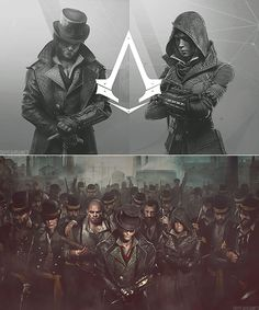 A Syndicate Rooks Gang All Assassin's Creed, Assains Creed, Video Game Art, Video Games, Jacob And Evie Frye, Arte Assassins Creed, Assassin's Creed Black, Concept Art, Ghost Rider