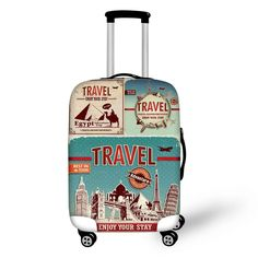 Travel Luggage Cover Minions Despicable Me Cartoon Theme Suitcase Protector Fits 22-24 Inch Washable Baggage Covers