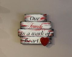 This signs is made up of 4 various size boards nailed together, painted, distressed, stenciled and sealed with an added wooden heart. Pallet Crafts, Diy Pallet Projects, Wood Crafts, Wood Projects, Pallet Ideas, Decor Crafts, Wooden Hearts Crafts, Heart Crafts, Arte Pallet