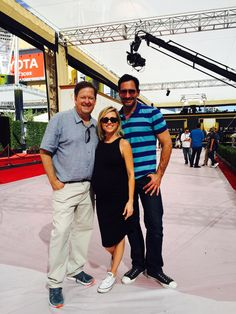 Emmy rehearsal today with Sam and Lawrence...I just might wear those sneakers under my dress! #Emmys2015 #Emmys  #RedCarpet #KTLA