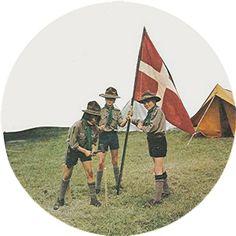 Altes Foto von dänischen Pfadfindern - Danske Spejder - Danish boyscouts