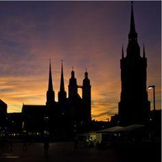 Halle Marktplatz - nach dem Viertelpoet-Benefizkonzert