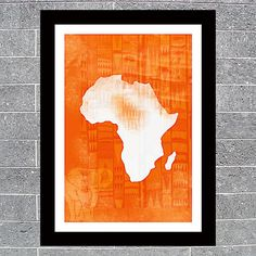 Africa Map Art Print Poster by DalliancePrints on Etsy, £9.99