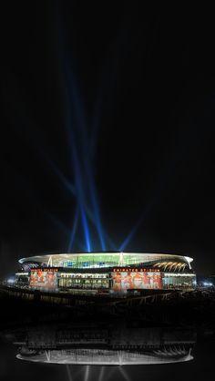 Emirates Stadium Arsenal Wallpaper Night iPhone