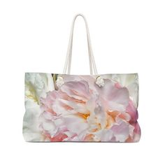 Blooming Peonies Canvas Weekender Shoulder Bag for Women. Reusable Shopping Bags, Reusable Bags, Floral Tote Bags, Weekender Tote, Retail Therapy, Peonies, Bloom, Comfy Clothes, Shoulder Bag