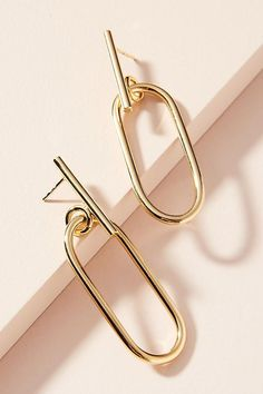 Elipse Drop Earrings, pink and gold. Trendy Fashion Jewelry, Fashion Jewelry Necklaces, Silver Jewelry, Jewelry Accessories, Jewelry Design, Fashion Jewellery, Men's Jewellery, Designer Jewellery, Fashion Earrings