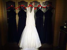 Wedding dress and bridesmaid dresses 8.8.14