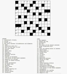 Free printable Word Search and Sudokus: Crossword 24