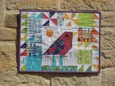 flying bird mini quilt