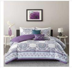 Intelligent-Design-Mikay-Purple-5-piece-Twin-XL-Size-Bedding-Comforter-Set-New