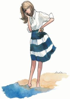 I love Inslee illustrations! They are so chic and sophisticated!